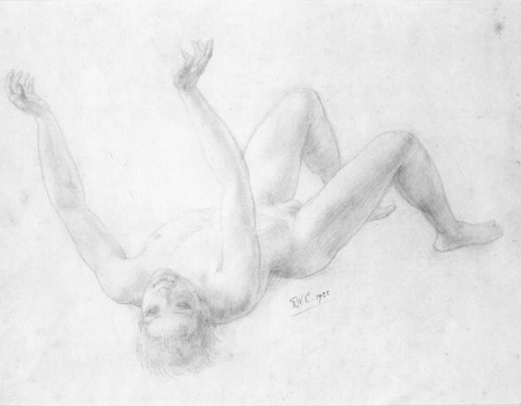 Drawing of a Recumbent Boy. Ralph CHUBB.