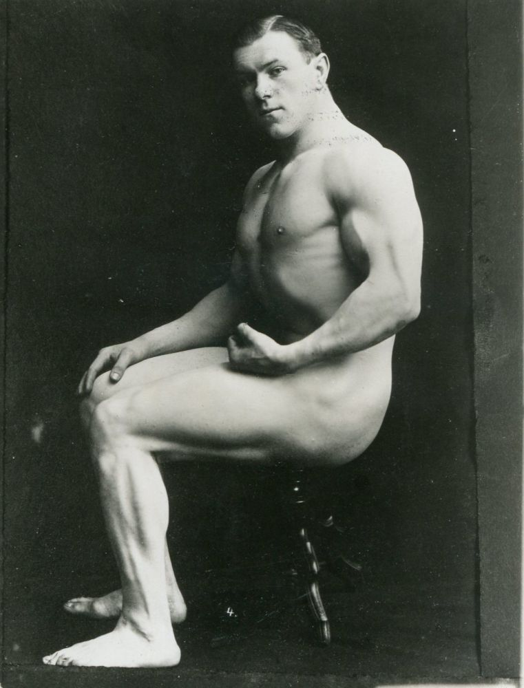 A vintage male nude photograph. MALE NUDE.