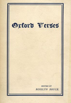 Oxford Verses. Rosslyn BRUCE