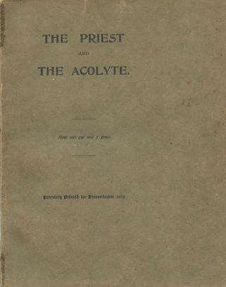 The Priest and the Acolyte. J. F. BLOXAM.