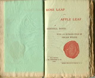 Rose Leaf and Apple Leaf. Oscar. RODD WILDE, Rennell