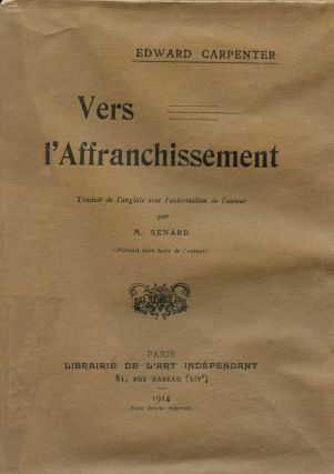 Vers l'Affranchissement. Edward CARPENTER