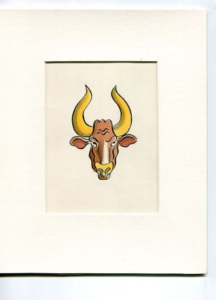 "Astrological sign (Taurus) pen and ink (5.5"" x 6.5"") mounted. Exhibited Museum of Sex, 2011. Sam..."