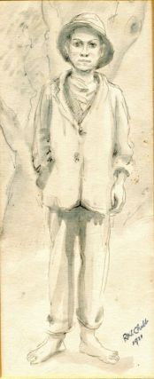 Original sketch of a boy. Ralph CHUBB