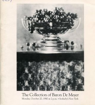 The Collection of Baron De Meyer. Baron De MEYER