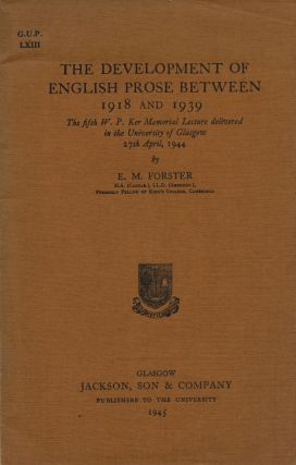 The Development of English Prose Between 1918 and 1939