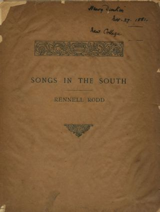 Songs in the South. Rennell RODD