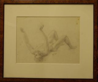 Drawing of a Recumbent Boy