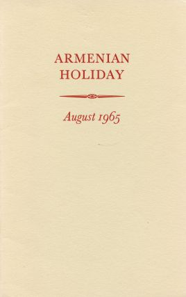 Armenian Holiday: August 1965. Benjamin BRITTEN, Peter Pears