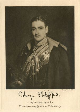 Colwyn Erasmus Arnold Philipps, captain, Royal House Guards, elder son of John Wynford Philipps,...