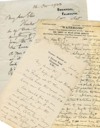 Two autograph letters from the acclaimed painter. Henry S. TUKE, Charles Kains Jackson