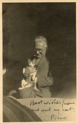 Photograph with cat
